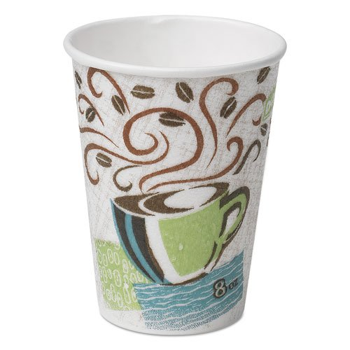 Dixie 5356CDCT Hot Cups Paper 16oz Coffee Dreams Design 50/Pack