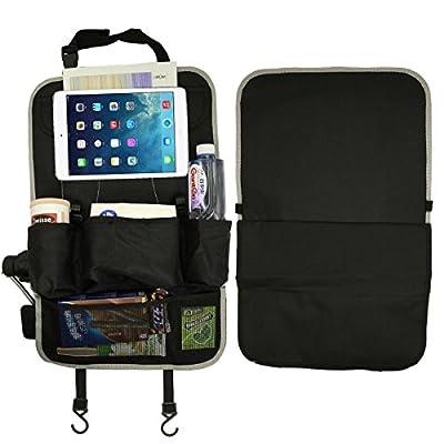 Backseat Car Organizer - Kids Toy Storage - Premium Backseat Protector/Kick Mat