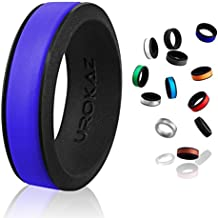 UROKAZ Silicone Fashion Rings, The Only Ring that Fits Your Lifestyles-Whether You are Single or Married, Ring is Right For You-It is fashionable,Flexible,and Comfortable