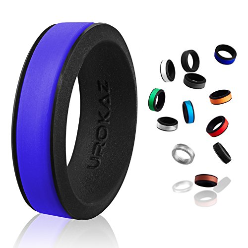 UROKAZ Silicone Wedding Ring, The Only Ring that Fits Your Lifestyle - Whether You are Single or Married, Ring is Right for You - It is Fashionable, Flexible, and (Tiffany Sapphire Bands)