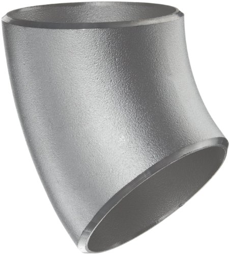 Stainless Steel 304/304L Pipe Fitting, Long Radius 45 Degree Elbow, Butt-Weld, Schedule 10, 3
