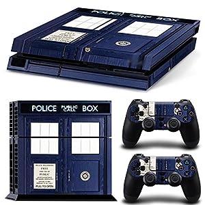 FriendlyTomato PS4 Console and DualShock 4 Controller Skin Set - Dr Police Box Ttime Travel - PlayStation 4 Vinyl