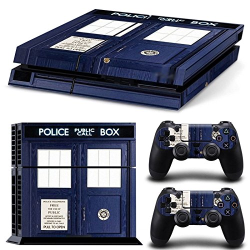 GoldenDeal PS4 Console and DualShock 4 Controller Skin Set - Dr Police Box Ttime Travel - PlayStation 4 Vinyl