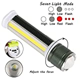 Inverlee COB LED Work Light Camping Inspection Lamp Hand Torch Perfect for Outdoor Use (Green)