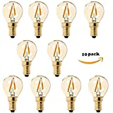 Century Light - LED Vintage Filament Bulb, G40 1W Replace 10W Incandescent Bulbs, Super Warm White 2200K AC 230V E14 Base, Gilded Glass, Dimmable,10Pack