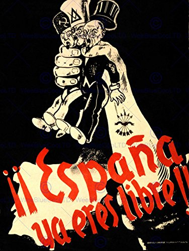 PROPAGANDA WAR SPANISH CIVIL FASCIST FALANGE NATIONALIST SPAIN POSTER BB6951B by Bumblebeaver