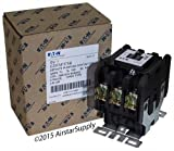 Eaton C25FNF375B Definite Purpose Contactor, 50mm, 3 Poles, Box Lugs, Quick Connect Side By Side Terminals, 75A Current Rating, 5 Max HP Single Phase at 115V, 20 Max HP Three Phase at 230V, 50 Max HP Three Phase at 480V, 208-240VAC Coil Voltage