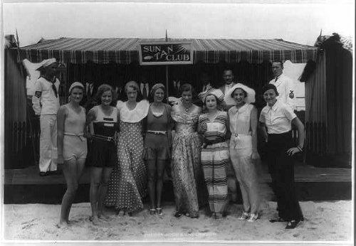 Photo: 1931,Beachwear,Cape May Sun Tan Cabana Club,New (Cabana Sun Club)