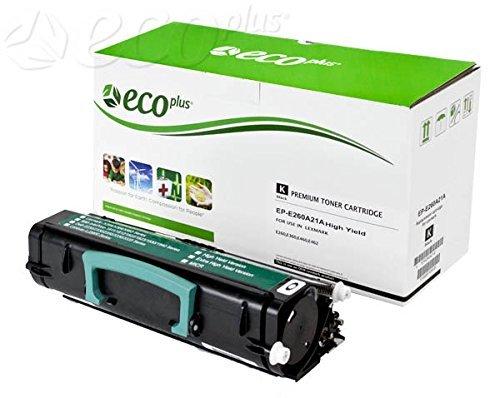 ECOPLUS REMAN TONER CTG, BLACK, 3.5K YIELD. Replaces LEXMARK E260A21A