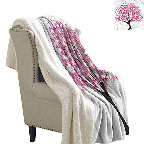 - Baby Blanket Nature Cherry Blossom Floral Autumn and Winter Thick Blanket W59 x L31