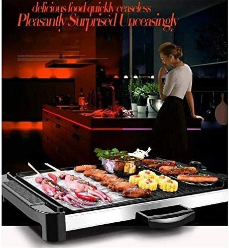 YAOSHUYANG Barbecue Et Hot Pot Ménage Multi-Fonction électrique Grill électrique intérieur Smokeless Barbecue Grill antiadhésifs Plate Coated Idéal for Famille Rassemblements