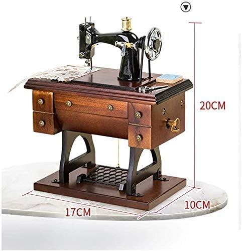 Musical Máquina de coser caja de música, vector de la vendimia de ...