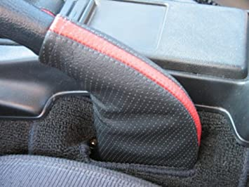 Black Perforated Leather-Black Thread RedlineGoods ebrake Boot Compatible with Mazda Miata NA 1990-97