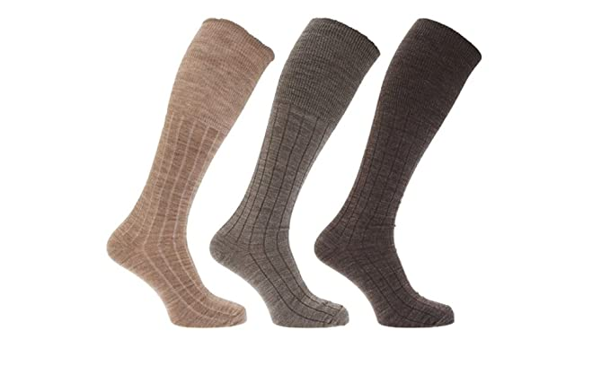 b15d3f24bef78 25% Lambs Wool Blend With Lycra Long Hose Mens Socks x 3 Pairs in ...