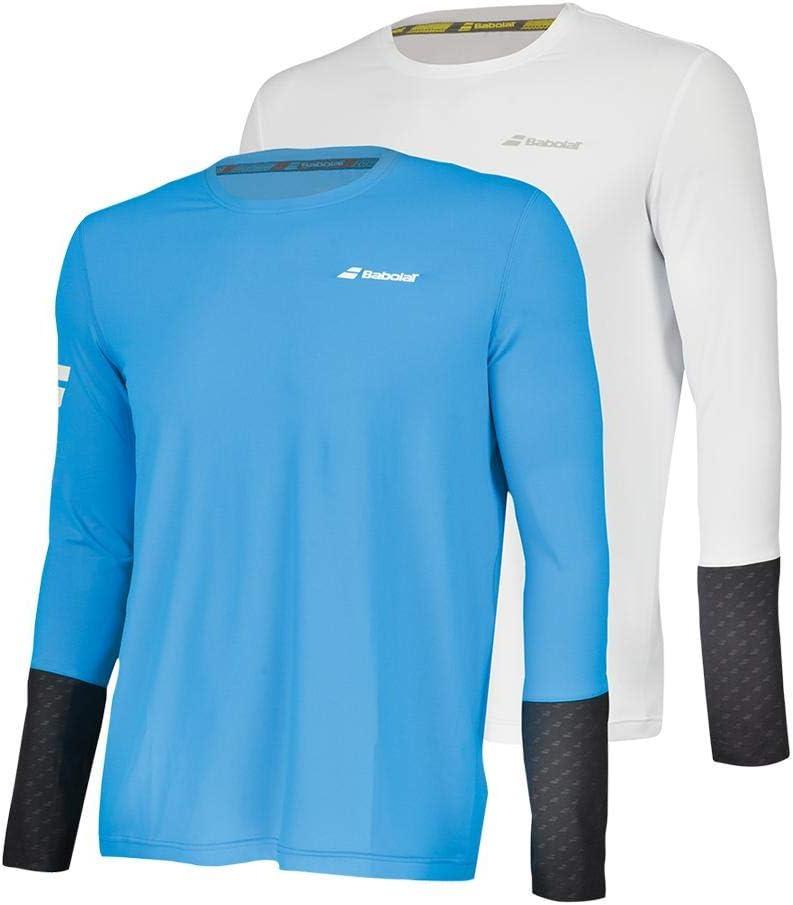 Black Babolat Men's Core Long Sleeve T-Shirt