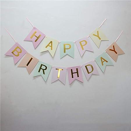 Ningz0l Decoraciones Cumpleaños, Letras De Bronce Feliz ...