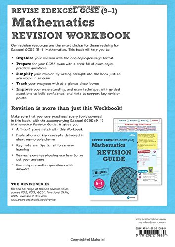 Revise Edexcel GCSE (9-1) Mathematics Higher Revision Workbook: for ...