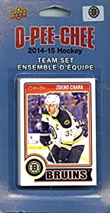 Boston Bruins 2014 2015 O Pee Chee NHL Hockey Brand New Factory Sealed 18 Card Licensed Team Set Made By Upper Deck Including Milan Lucic, Jarome Iginla, Zdeno Chara Plus