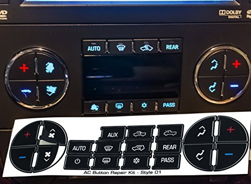 Oxgord Ac Dash Button Repair Kit For Select Gm Vehicles