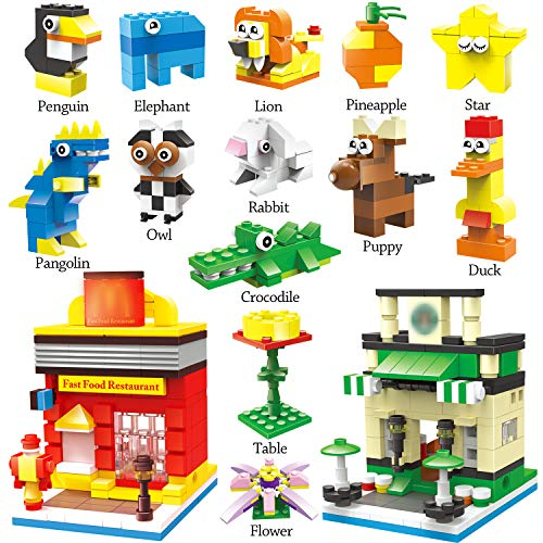 WishaLife Set of 13 Animal Nanoblock Mini Building