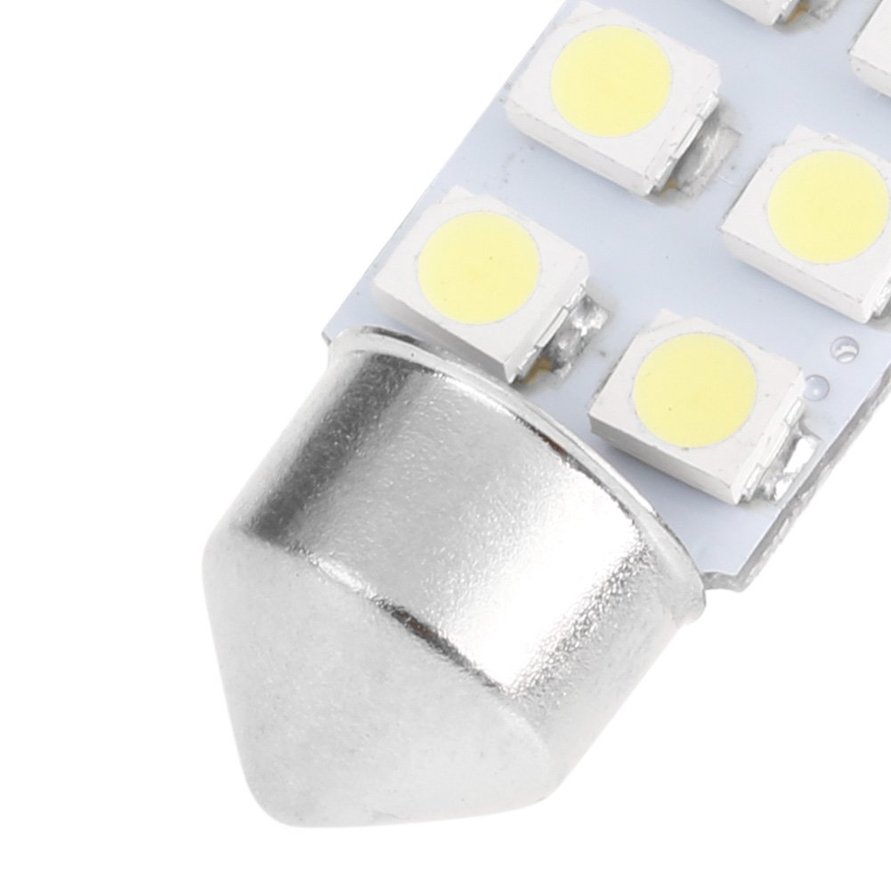 1 Pc 41mm LED Light 1210 8 SMD Car Dome Double-Tip Roof Bulb Reading Lamp