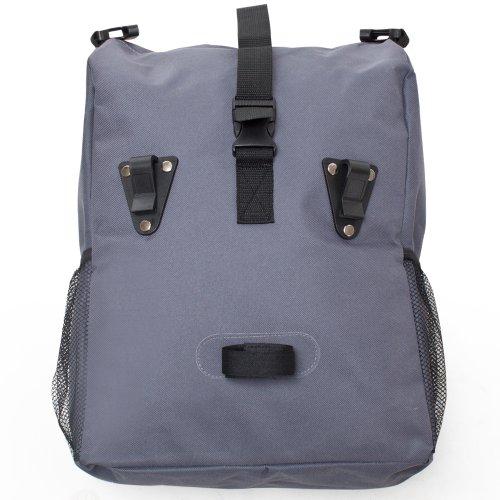 TecTake Fahrradtasche Gepäcktasche grau / blau