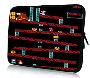 10 inch Rikki KnightTM Retro Donkey Kong Design Laptop sleeve - Ideal for iPad 2,3,4, iPad Air, Galaxy Note, Small Notebooks and other Tablets