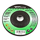 Forney 71897 Grinding Wheel with 7/8-Inch Arbor, Masonry Type 27, C24S-BF, 4-1/2-Inch-by-1/4-Inch
