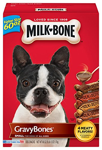 - Milk-Bone Gravy Bones Dog Biscuits - Small, 60 Oz (3 Pack)