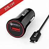 Fast Charge, BC Master Quick Charge QC 2.0 USB Car Charger Adapter for Samsung GalaxyS7 / S7 Edge, S6 / S6 Edge / Note 5 / Note 4, HTC, Nexus 6