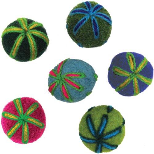 Dimensions Felt Embellishments, Embroidered - Felt Wool Stars 100%