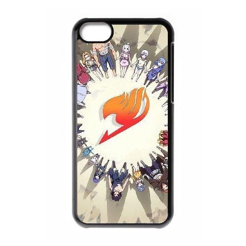 Fairy Tail 030 coque iPhone 5C Housse téléphone Noir de couverture de cas coque EOKXLLNCD14235