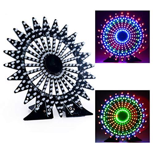 DDIY Digital Ferris Wheel Soldering Project Electronic Kit Spectrum DIY Parts Beginners Learning Welding Assemble 9 Angle