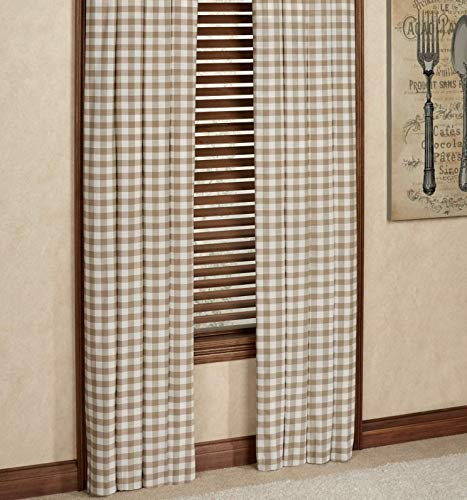 Achim Importing Co Inc Buffalo Check Tailored Curtain Panel from Achim Importing Co Inc