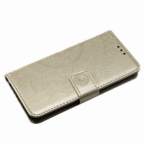 Cover Huawei Carte Smart Disegno P Stile Dorato Funzione grigia Pelle Cover Enjoy Silicone Per Pu Magnetica Compass Custodie Stand Yiizy Porta Protettivo Portafoglio Morbido Tpu 7s wqt5HIn