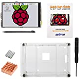 "OSOYOO Raspberry Pi 3 3.5"" LCD Touch Screen Display Monitor + Clear Case + 2PCS Cooling Heat Sinks + Screwdriver Kit"