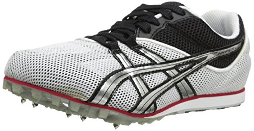 ASICS Men's Hyper LD Track And Field Shoe,White/Lightning/Flame,10 - Ld Track