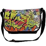 Graffiti Wall-art Hip-hop Style Casual Adjustable Strap Shoulder Bag - Crossbody Sling Messenger Bags
