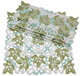 Xia Home Fashions Vineyard Embroidered Cutwork Square Doilies, 16-Inch by 16-Inch, Set of 4