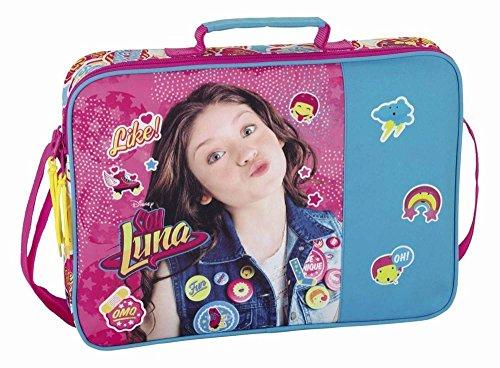 Walt Disney Soy Luna, Schultertasche Messenger (S385) für Mädchen, rosa/blau, 38 x 28 x 6 cm