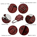 Artwell Women Backpack Purse Convertible Ladies Rucksack Washed Leather Large Capacity Security Crossbody Shoulder Bag