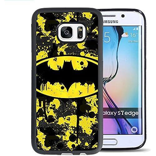 Samsung Galaxy S7 Edge Case, Onelee Customized Batman [Anti Slip] Black TPU and PC Samsung Galaxy S7 Edge Case, [Drop Protection] Batman Galaxy S7 Sales