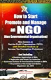 How to start promote and manage an NGO