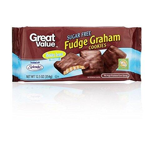- Great Value Sugar Free Fudge Graham Cookies, 12.5 Oz