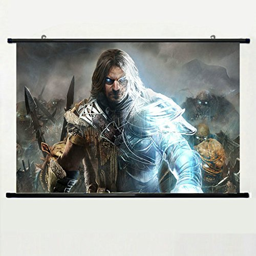 Wall Scroll Poster with Middle Earth Shadow Of Mordor Monolith Productions Warrior Ghost Equipment
