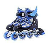Children Skates Shoes Classic Sets Dual Purpose Roller Skates Shoes with siez M can Adustable and Breathable