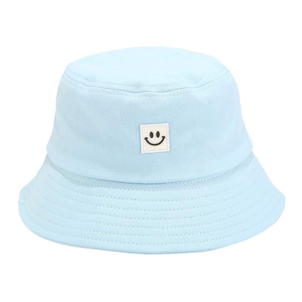 Ruinono Unise Hat Summer Travel Bucket Beach Sun Hat Smile Face Visor