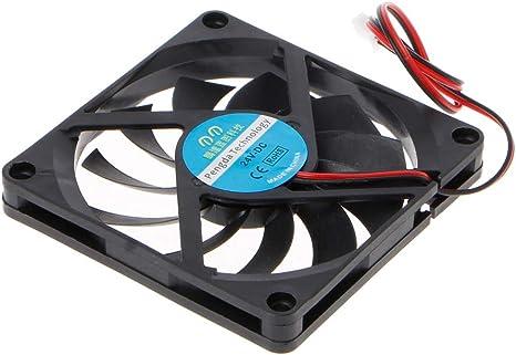 Yintiod 8010 - Ventilador para PC (24 V, 2 Pines, 80 x 80 x 10 mm ...