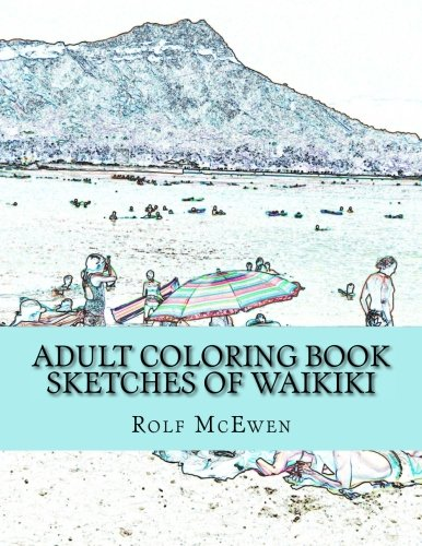 Adult Coloring Book Sketches of Waikiki