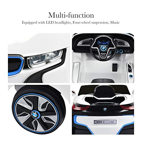 Bmw I8 12v Electric Ride On With Remote Control: Uenjoy BMW I8 Luxury 12V Ride On Children's Electric Cars